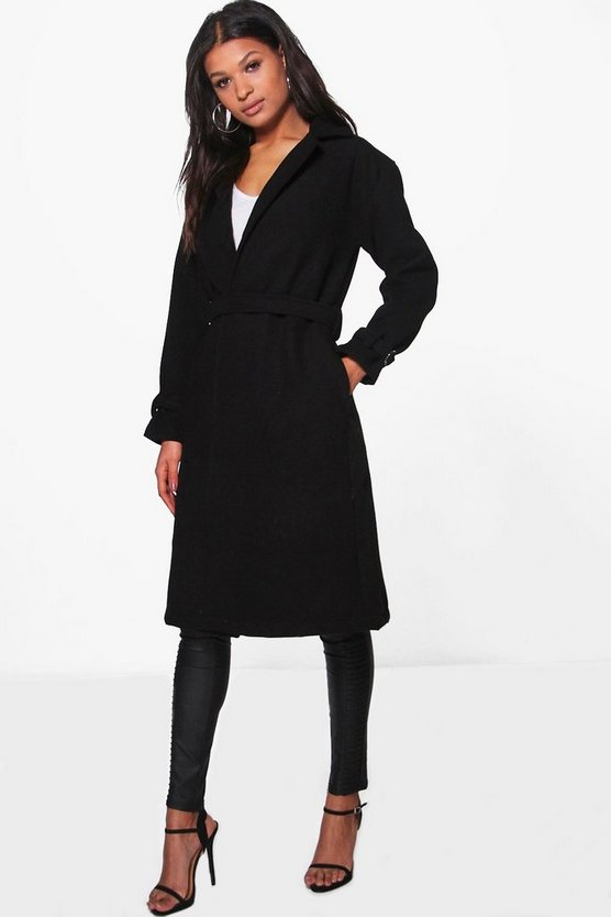 Cindy D-Ring Belted Coat