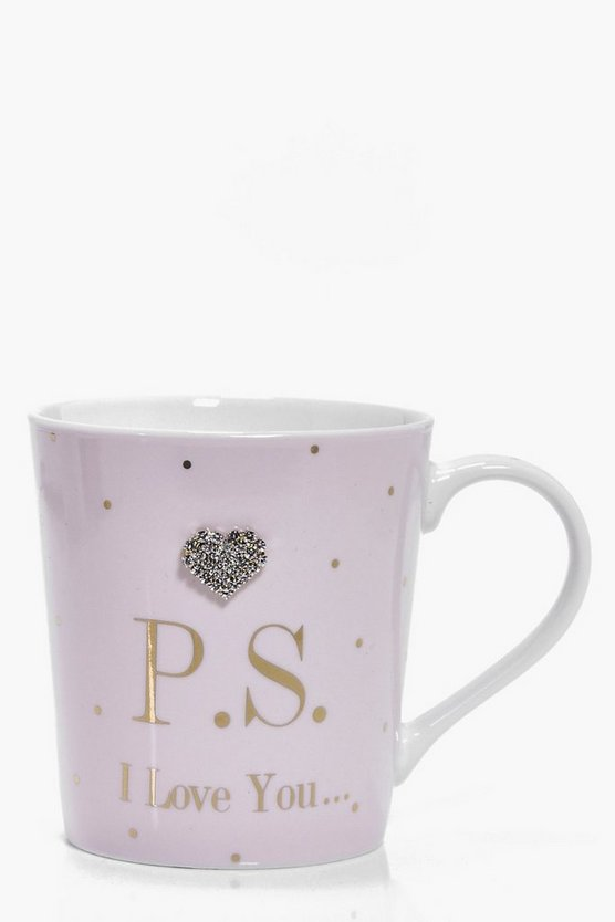 PS I Love You Diamante Mug