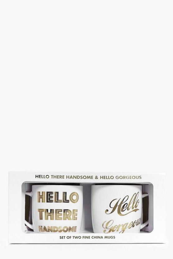 Hello Gorgeous & Handsome Mug Set