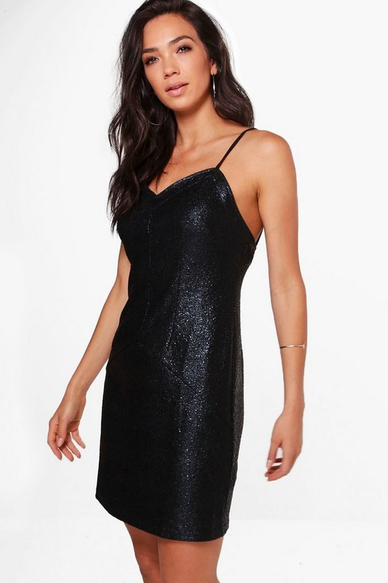 Maisie Metallic Strappy Bodycon Dress