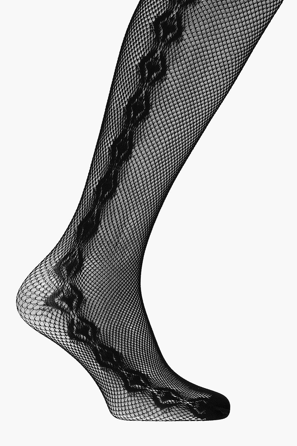 Elsa Side Panel Fishnet Tights