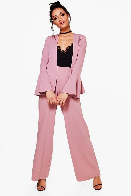 Annabel Pleat Front Wide Leg Trouser