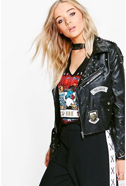 Sophie Studded Leather Jacket
