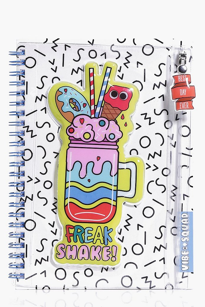 Vibe Squad Squishy Pencil Case Notebook