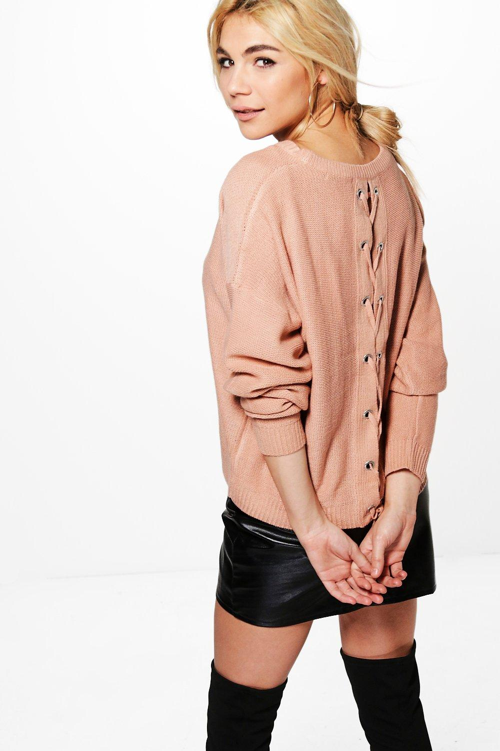 Bethany Lace Up Back Jumper