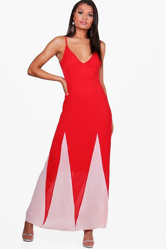 Gaynor Colour Block Maxi Dress