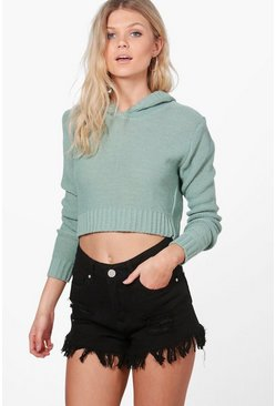 Nicola Hooded Crop Jumper