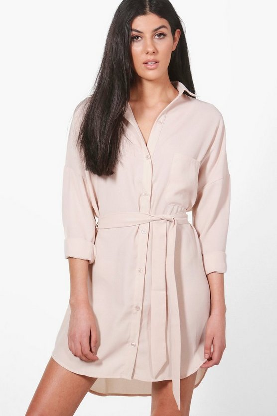 Jemma Tie Front Shirt Dress