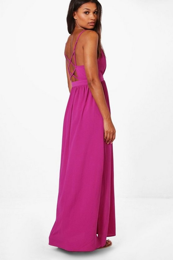 Vera Strappy Back Maxi Dress