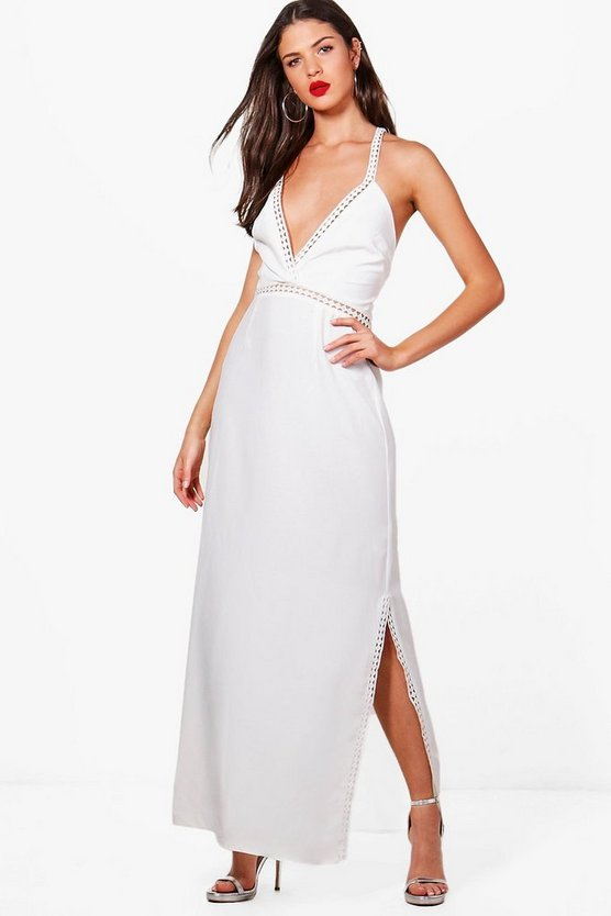Lily Ladder Trim Detail Maxi Dress