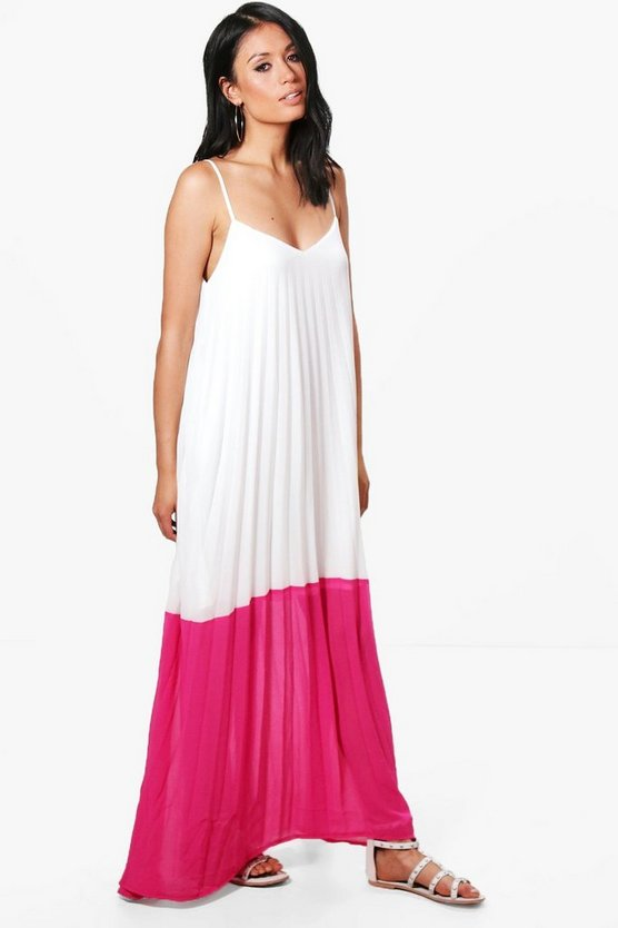 Mollie Colour Block Column Maxi Dress