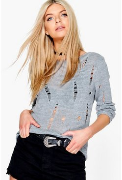 Daisy Distressed Jumper