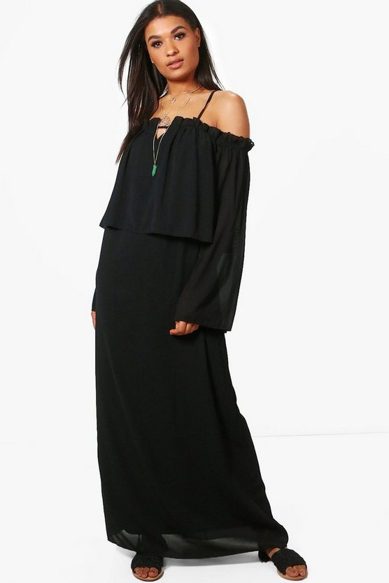 Posey Angel Sleeve Maxi Dress