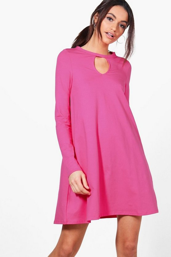 Sara Key Hole Detail Swing Dress