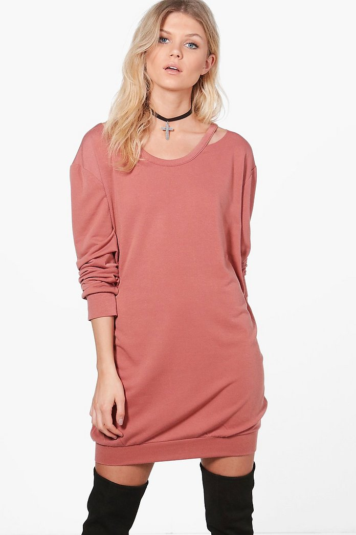 Niamh Cut Out Detail Sweat Dress