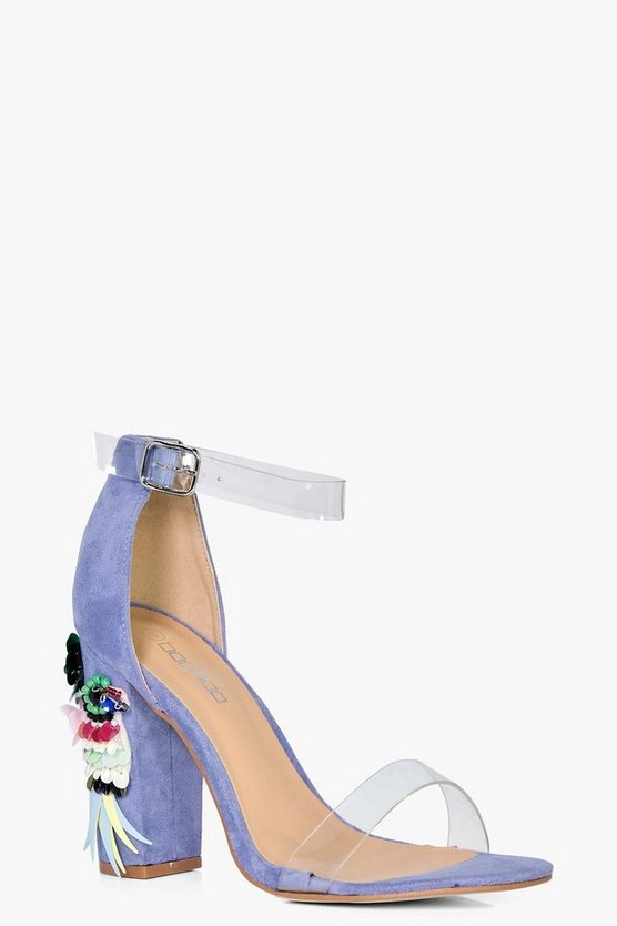 Grace Embellished Block Heel Sandal