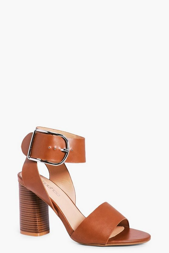 Abbie D Ring Block Heel Wide Fit Sandals