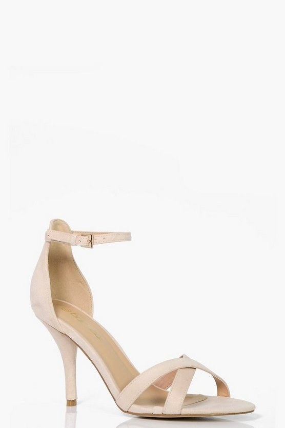 Zoe Cross Front Low Heels Two Parts Wide Fit