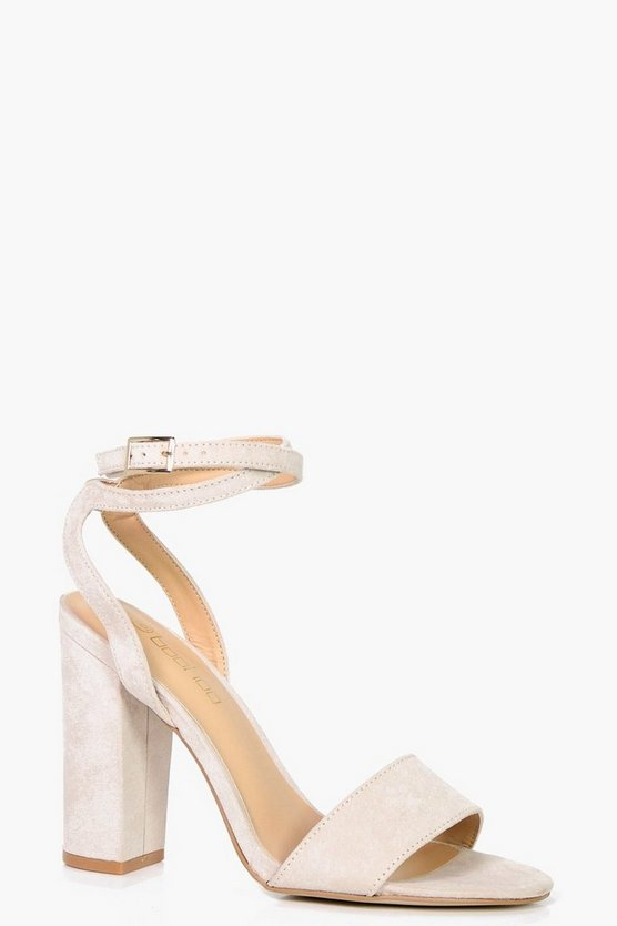 Lucy Wide Fit Wrap Strap Block Heel Sandals