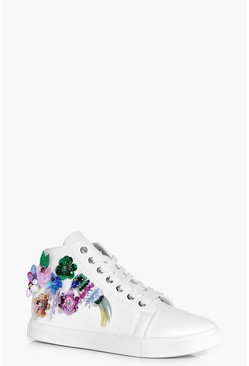 Orla Sequin And Embellished High Top