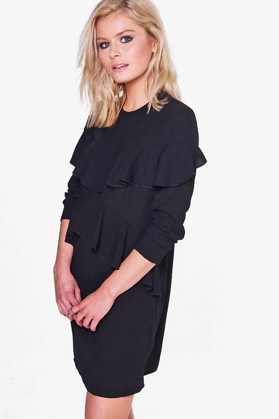 Rylie Ruffle Front Shift Dress
