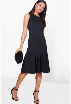 Olivia Drop Waist Peplum Shift Dress