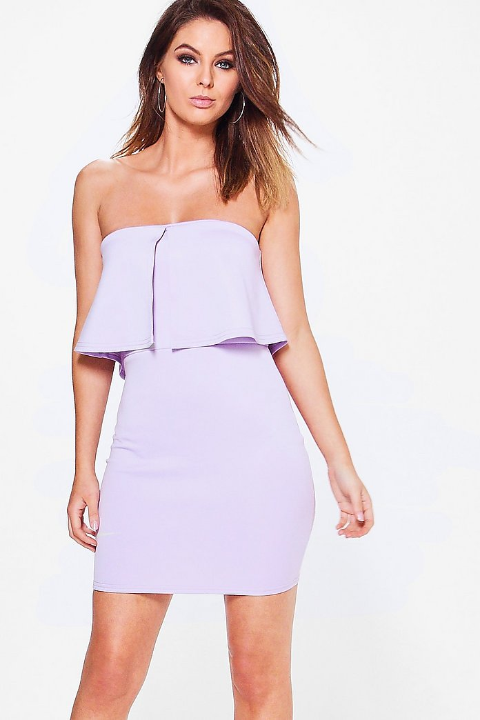 Arielle Notch Detail Off Shoulder Bodycon Dress