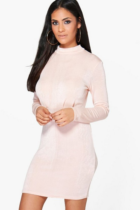 Jacqueline High Neck Midi Dress