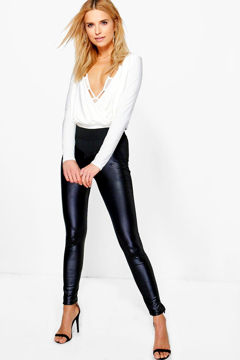Arizona Leather Look Front Leggings black