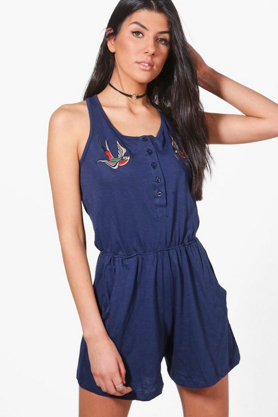 Emily Embroidered Playsuit
