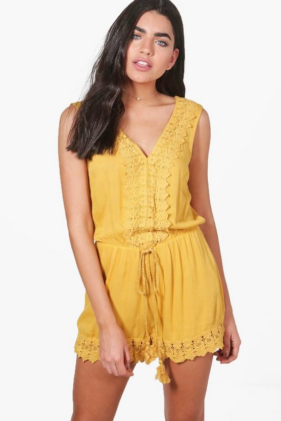 Ruby Crochet Trim Playsuit