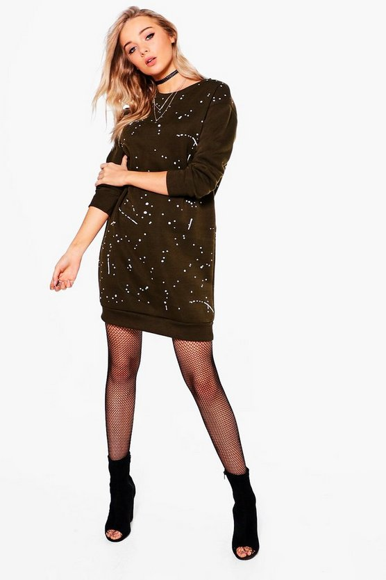 Noelle Paint Splattered Sweat Dress