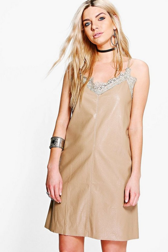Boutique Jess PU Slip Dress