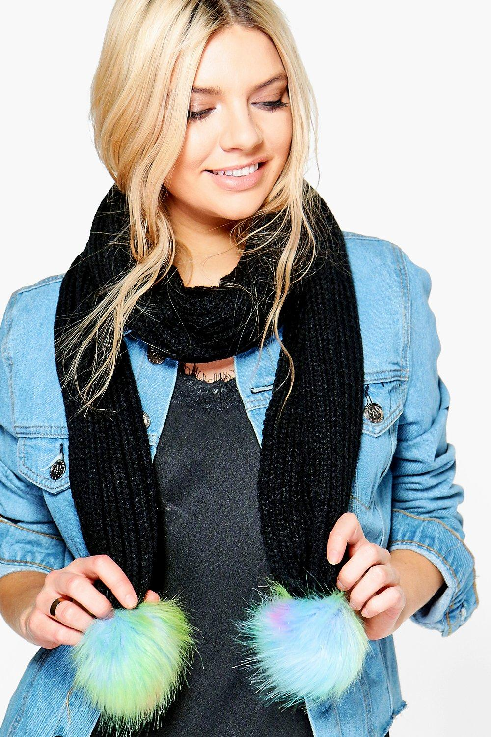 Gracie Mermaid Pom Knitted Scarf