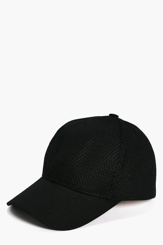 Mesh Baseball Cap - black - Robyn Mesh Baseball Ca