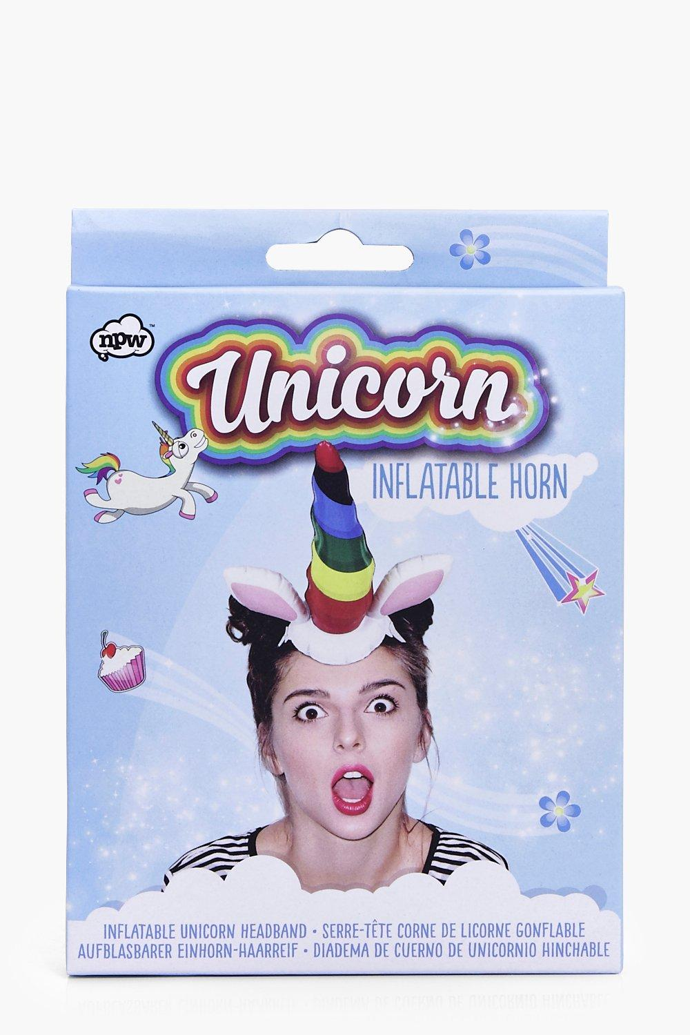 Inflatable Horn Head Band - multi - Unicorn Inflat