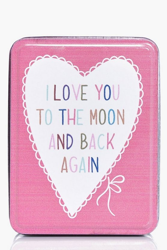 Moon And Back Slogan Trinket Box