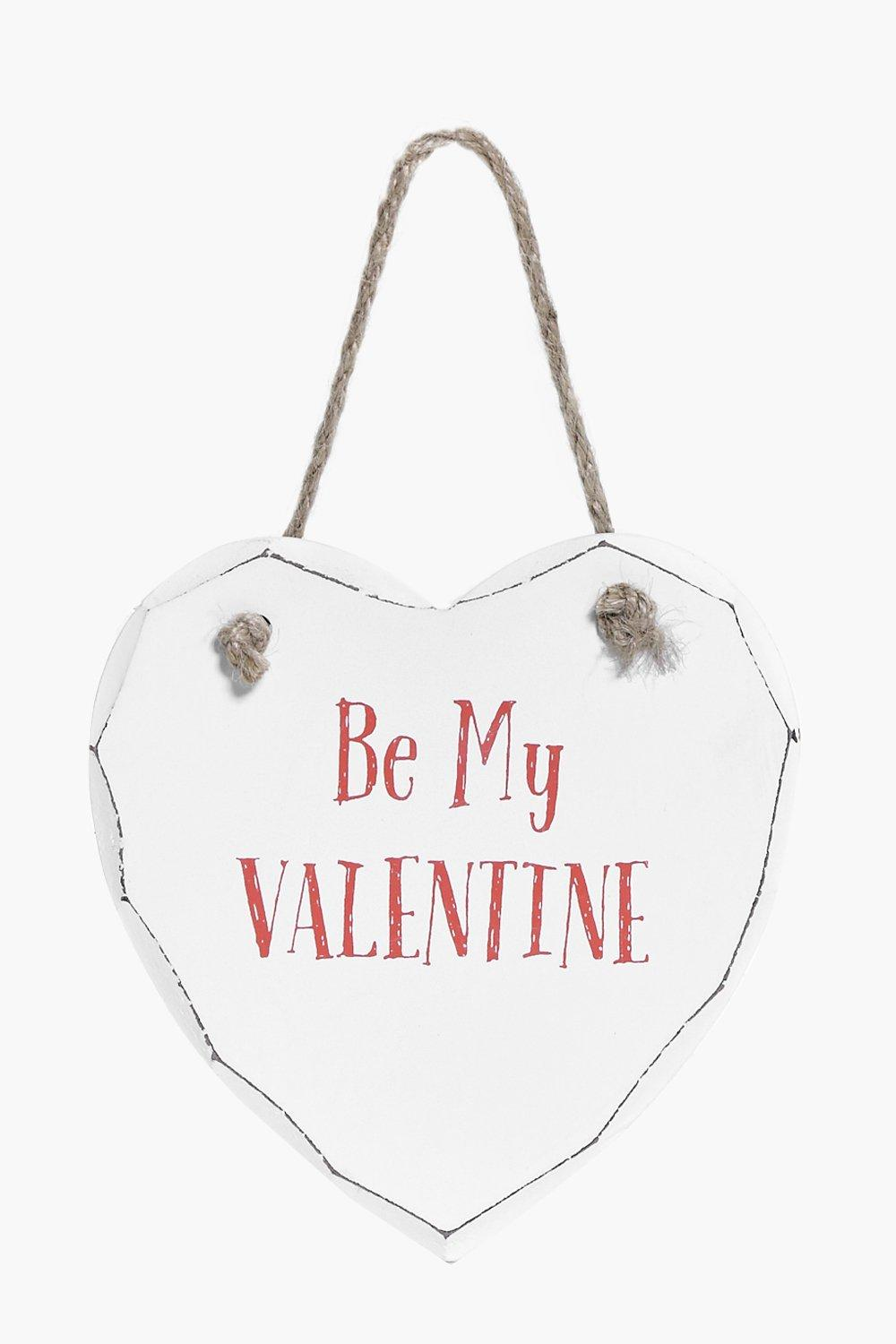 Be My Valentine Wood Plaque