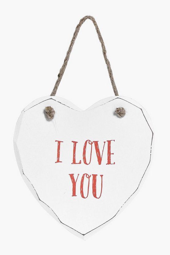 I Love You Wood Plaque