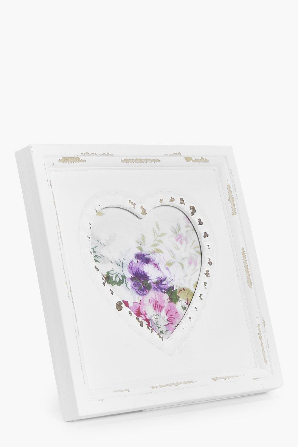 Heart Picture Frame  white