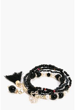 Alexis Beaded Tassel Bracelet Pack