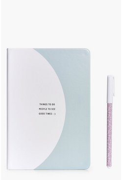 A5 Slogan Front Journal & Pen Set