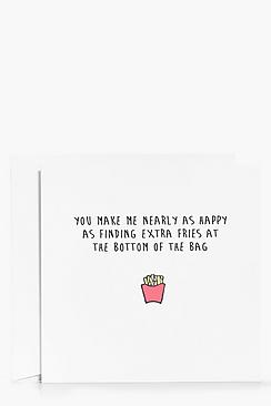 Extra Bonus Fries Valentines Day Card