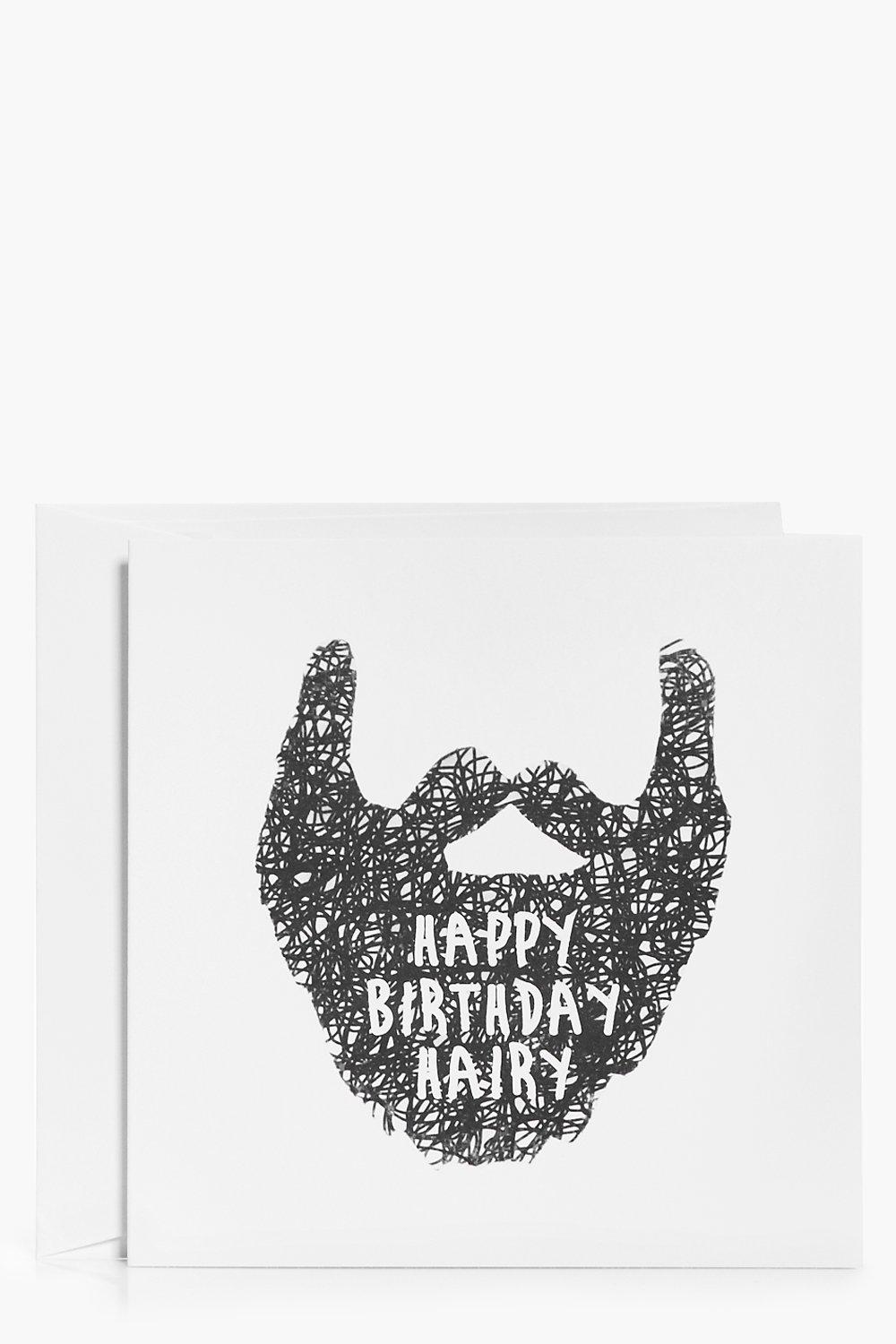 Image of Birthday Beard Birthday Card - white