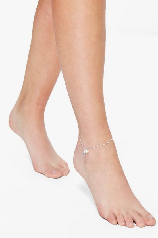 Rebecca Faux Pearl & Starfish Anklet