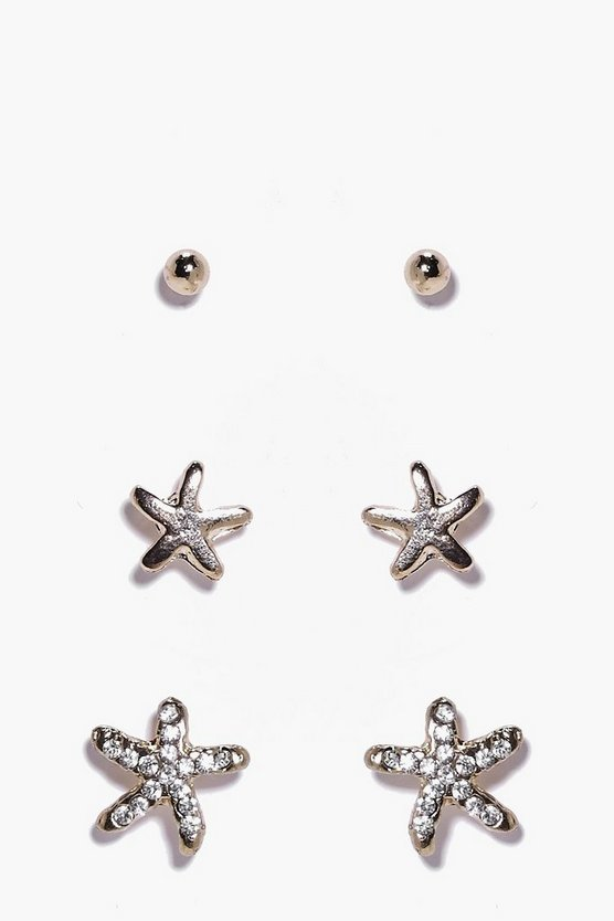 Lexi Starfish 3 Earring Set