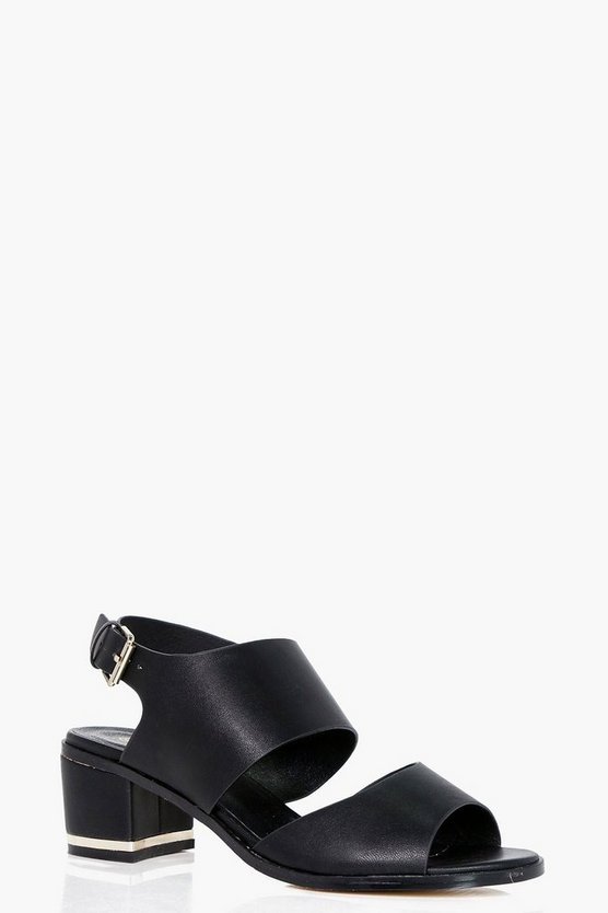 Amy Wide Fit Cut Out Block Heel Sandals
