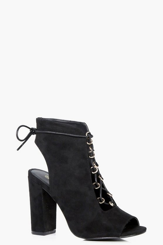 Tia Wide Fit Lace Up Shoe Boots