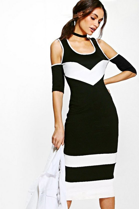 Georgia Cold Shoulder Bodycon Dress