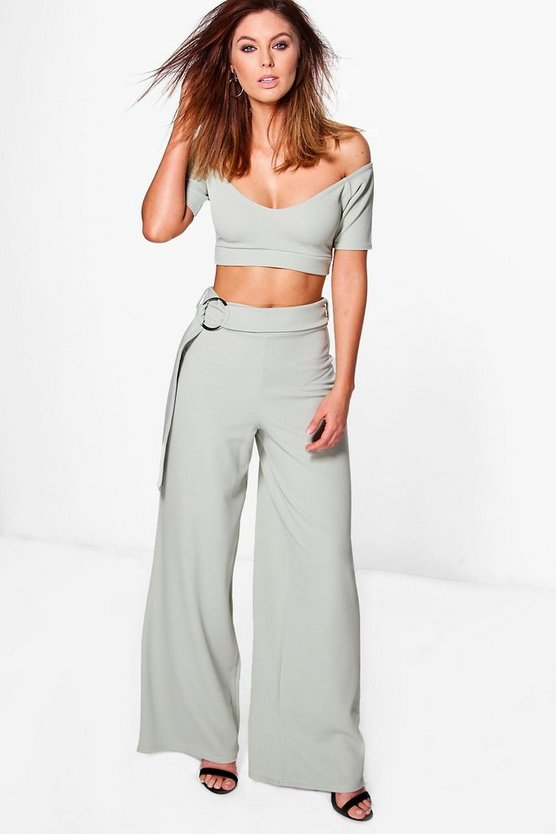 Ciara Circle Ring Trouser & Crop Co-ord Set